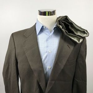 Vintage Burberry Mens 40R Suit 31 x 32 Pleated